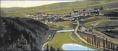 tok Liboce u bývalého Doupova před rokem 1945