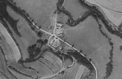 ves Dolánky na vojenském leteckém snímkování z roku 1952