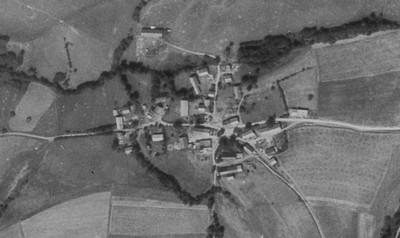 ves Mlyňany na vojenském leteckém snímkování z roku 1952