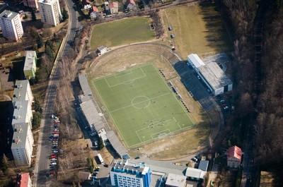 Drahovice - stadion Slavia - březen 2012