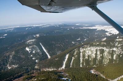 Černý vrch (1012 m n.m.) a Dub (1000 m n.m.)