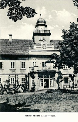 zámecká budova v roce 1940