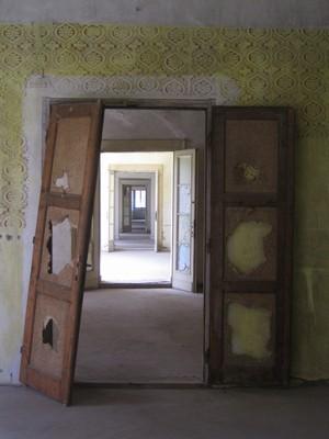 prostory v patře zámku - květen 2012