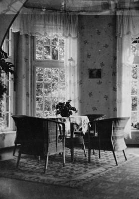 zimní zahrada v portiku před rokem 1945