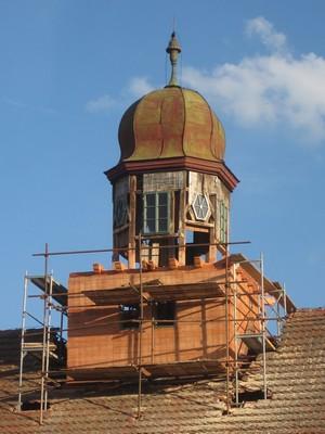 obnova věžičky zámku - květen 2012