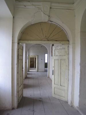 prostory v patře zámku - duben 2012