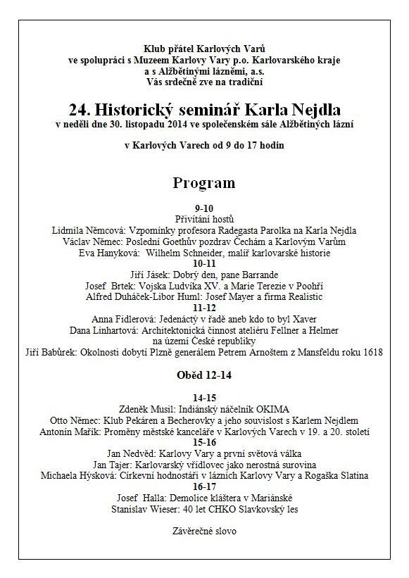 24. Historický seminář Karla Nejdla