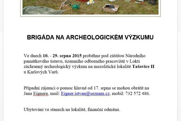 Brigáda na archeologickém výzkumu