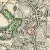 Veselov - Hammelův kříž   pamětní Hammelův kříž u Veselova na mapě Topografické sekce III. vojenského mapování ze 40. let 20. století