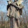 Stružná - socha sv. Jana Nepomuckého | restaurovaná vrcholová plastika světce - březen 2020