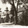 Štědrá - zámek   zámecká budova v parku na pohlednici z roku 1940