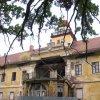 Štědrá - zámek   zřícený rizalit jižního průčelí zámku - říjen 2009