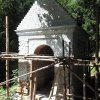 Žlutice - kaple Panny Marie | obnovovaná kaple Panny Marie - srpen 2016