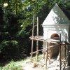 Žlutice - kaple Panny Marie | barokní kaple Panny Marie na vrchu Bellhübel během rekonstrukce - srpen 2016