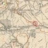 Bražec - Schindlerova muka   Schindlerova muka na odbočce k Hornímu mlýnu při silnici do Karlových Varů na výřezu mapy topografické sekce 3. vojenského mapování ze 30. let 20. století
