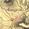 Dlouhá - železný kříž   železný kříž na západní okraji vsi na mapě 1. vojenského josefského mapování z let 1764-1768