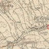 Dlouhá - Schneidermannlský kříž | Schneidermannlský kříž na břehu Lučinského potoka na toposekci 3. vojenského mapování ze 30. let 20. století