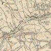 Dlouhá - Grundweberský kříž | Grundweberský kříž na rozcestí polních cest na mapě topografické sekce 3. vojenského mapování ze 30. let 20. století