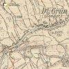 Dlouhá - Červený kříž | Červený kříž při cestě na Javornou na mapě topografické sekce 3. vojenského mapování ze 30. let 20. století