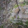 Bochov - železný kříž | vrcholová plocha žulového podstavce železného kříže u Bártova mlýna u Bochova - březen 2017