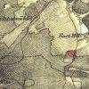 Bochov - Lohmarterlský kříž | Lohmarterlský kříž při úvozové cestě nad Bártovým mlýnem u Bochova na mapě 2. vojenského františkovo mapování z roku 1845