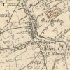 Německý Chloumek - Aspernský kříž | Aspernský kříž při původní silnici do Bochova na mapě topografické sekce 3. vojenského mapování za 30. let 20. století