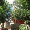 Chyše - železný kříž   železný kříž po renovaci - červenec 2012