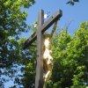 Chyše - železný kříž   plastika Ukřižovaného Krista - červen 2012