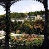 Karlovy Vary - Blanenský pavilon | promenádní část na kolorované pohlednici z roku 1928