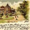 Karlovy Vary - Blanenský pavilon | Blanenský pavilon na kolorované pohlednici z roku 1900