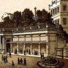 Karlovy Vary - Mlýnská kolonáda | pavilon Skalního pramene na polygrafii kolem roku 1900