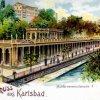Karlovy Vary - Mlýnská kolonáda | Mlýnská kolonáda na kolorované pohlednici z roku 1901