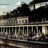 Karlovy Vary - Mlýnská kolonáda | Mlýnská kolonáda na kolorované pohlednici z roku 1927