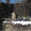 Jeřeň - křížový kámen | historický křížový kámen v Jeřeni - únor 2011