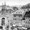 Karlovy Vary - litinová Vřídelní kolonáda | litinová Vřídelní kolonáda na historické fotografii z roku 1925