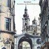 Karlovy Vary - litinová Vřídelní kolonáda | průchod na kolorované pohlednici