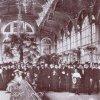 Karlovy Vary - litinová Vřídelní kolonáda | promenádní hala na fotografii z doby před rokem 1939