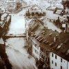 Karlovy Vary - litinová Vřídelní kolonáda | Vřídelní kolonáda během povodně dne 24. listopadu 1890