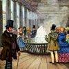 Karlovy Vary - empírová Vřídelní kolonáda | Vřídlo na pohlednici z poloviny 19. století