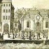 Karlovy Vary - Vřídlo | Vřídlo a Vřídelní sál na mědirytině Antona Balzera z roku 1794
