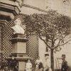 Karlovy Vary - busta Galluse Rittera von Hochbergera   busta Galluse Rittera von Hochbergera na historické fotografii z počátku 20. století