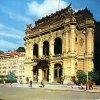 Karlovy Vary - Městské divadlo | divadlo Vítězslava Nezvala na snímku z doby před rokem 1989