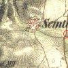 Semtěš - Pfeifferův kříž   Pfeifferův kříž u Semtěše na mapě 2. vojenského Františkovo mapování z let 1846-1847