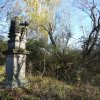 Vladořice - sousoší Piety | zarostlé zchátralé sousoší Piety u Vladořic - říjen 2010