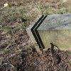 Pšov - Rösslův kříž | horní část podstavce se zbytky původní opěrky vrcholového kříže před obnovou - březen 2016