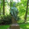 Dalovice - busta Karla Theodora Körnera | přední strana pomníku - červen 2011