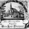 Březová - kostel Jména Panny Marie   pamětní list stavby kostela pro Hermanna Fietha z roku 1893