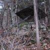 Březová - kaple | zděná plošina ve svahu, na která stávala kaple - prosinec 2009