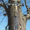 Herstošice - železný kříž | restaurovaný vrcholový železný kříž - březen 2017