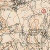 Jesínky - Strunzův kříž | Strunzův kříž při cestě do Bochova severně od Jesínek na mapě topografické sekce 3. vojenského mapování z počátku 20. století